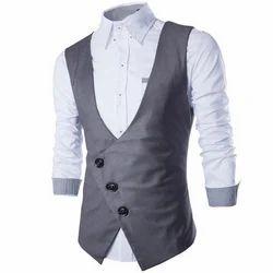 Cotton Blend & Parachute/Nylon Boys Designer Waistcoat