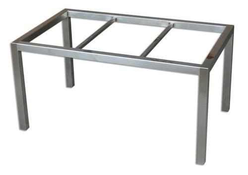 Stainless steel table frame home design for Dining table frame design