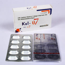 Calcitriol 0.25 MCG Vitamin K2-7 45mcg Calcium Citrate 500 mg Tablets