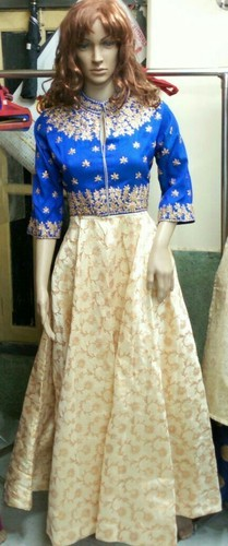 Silk Ladies Designer Gown. D No. 130
