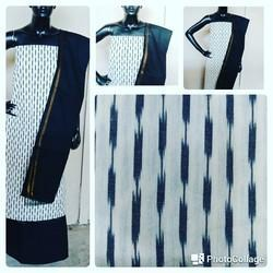 Regular Wear Cotton Fabric Ikkat Dress Material, Features: Quality