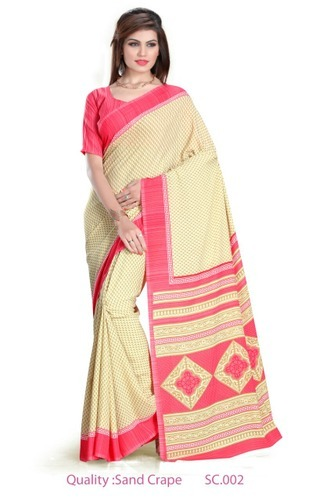 Cotton Printed Ladies Sarees, Length: 6 m (with blouse piece)