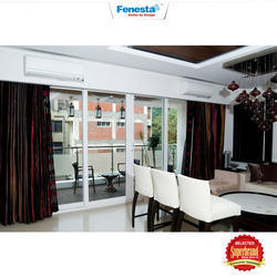 Upvc Fenesta Double Glass Door