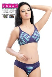 Ladies Innerwear Stripe Set