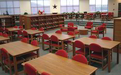 Wood Library Seating - Tables For Student