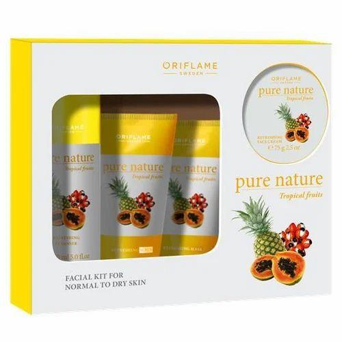 4e07109304 Pure Nature Tropical Fruits Facial Kit, Fruit Facial Cream, फलों ...