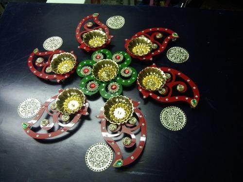Diwali Rangoli Diya, Packaging Type: Box, For Diwali Decoration