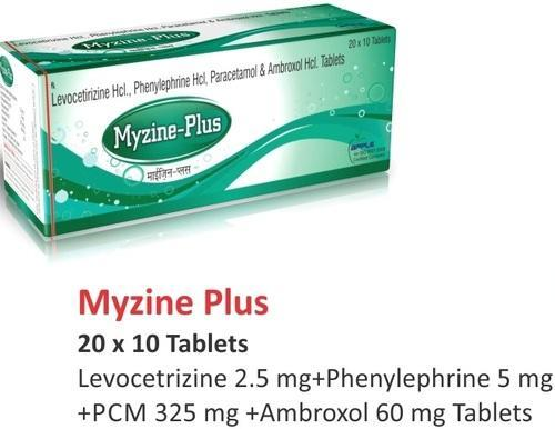 Levocetrizine 2.5 Mg Phenylephrine 5 Mg PCM 325 Mg Ambroxol 60 Mg, 20x10