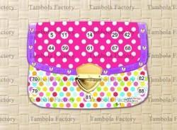 Polka Dot Ladies Clutch Bag Kitty Party Tambola Ticket Game