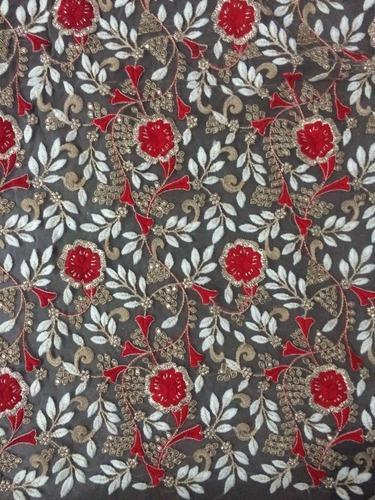 Coding Work Embroidery Fabric At Rs 450 Meters Fulpada Surat