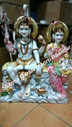 Marble Gauri Shankar Statue