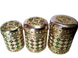 Meenakari Steel Containers, For Kitchen Purpose