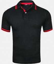Corporate Polo Black T- Shirt