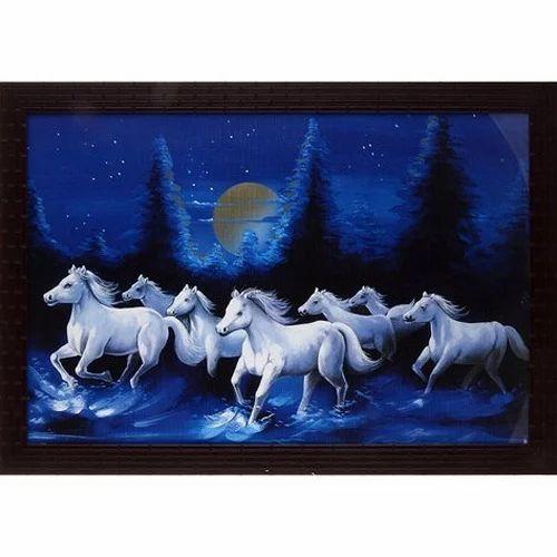 7 Horse Photo Frame Decorative Picture Frame डेकोरेटिव