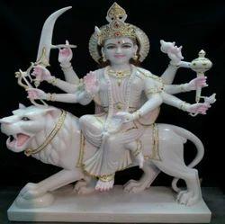 Marble Goddess Durga Statue