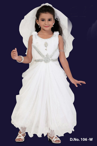 0b3a91c5b17f Christmas Special Dresses - Long Kids Gown Exporter from Mumbai