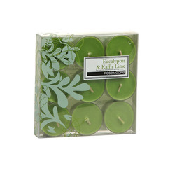 Rosemoore Scented Tea Lights Candle Eucalyptus & Kaffir Lime (Pack Of 9)