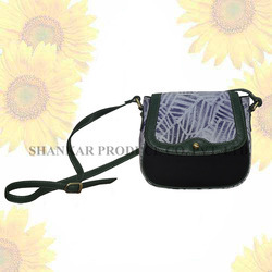 Cross Body Bag with Leather Trims