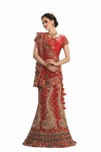 d42e8f7e81 Chanderi Kundan Work Indian Wedding Lehenga, Size: 30, Rs 19192 ...