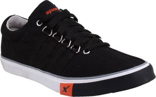 Mens Sparx Black Sporty Canvas Shoes at