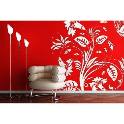 Leaf Wall Design Wallpaper