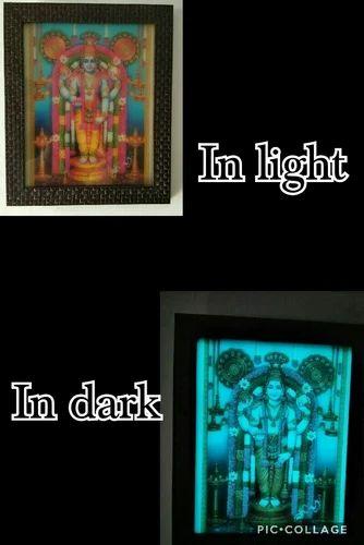 Glow In The Dark Photo Frame Vishnu Ji At Rs 1000 Piece God Frame