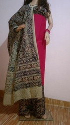 Embroidered Kalamkari Cotton Dress