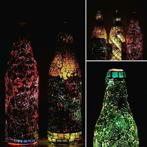 Handmade Mosaic Glass Decorative Bottles At Rs 300 Bottle Dwarka New Delhi Id 17212696662