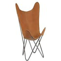 Butterfly Chair Caramel Leather
