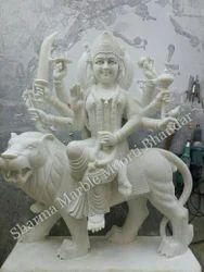 White Marble Durga Maa
