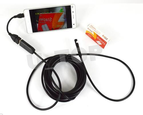 USB Endoscope 7mm Inspection Camera With Side Mirror 2 Meter