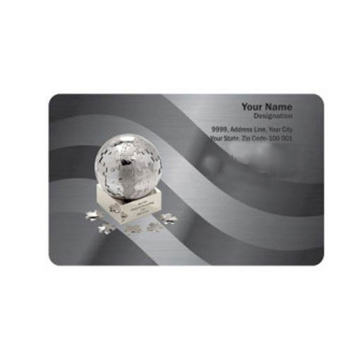 Silver Business Cards 100 Yellow Exports