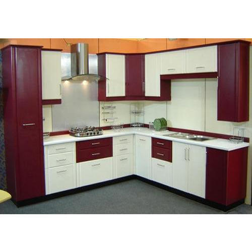 Modular Kitchen Magnon India: Modular Kitchen, लैमिनेटेड मॉडुलर किचन - Vins Home Interior, Coimbatore