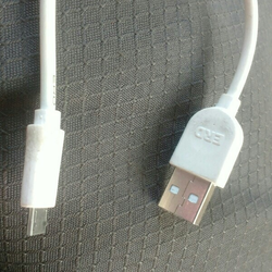 White 2A Mobile USB Data Cable