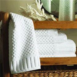 Cotton Dobby Checks Design Hotel Bath Towel
