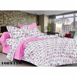 Floral Print Satin Bed Sheet