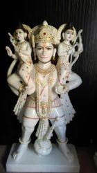 Standing Hanuman Marble God Statue
