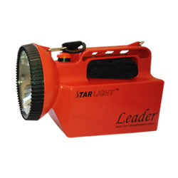 3Watt Plastic STARLIGHT Rechargeable LED Torch - Leader, Capacity: Up to 4999 mAh