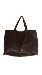 Unlined Tote Bag With Leather Coin Pouch