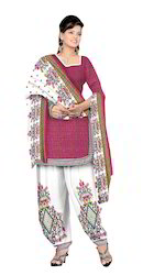 Butter Crepe Patiala Salwar Suit