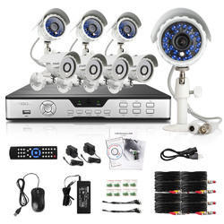 Hikvision White Camera 4 Camera 1 DVR Complete Set With Installation
