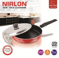 2.25L Nirlon Fry Pan With Stainless Steel Lid