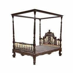 Collectors Corner Standard Antique Rosewood Bed