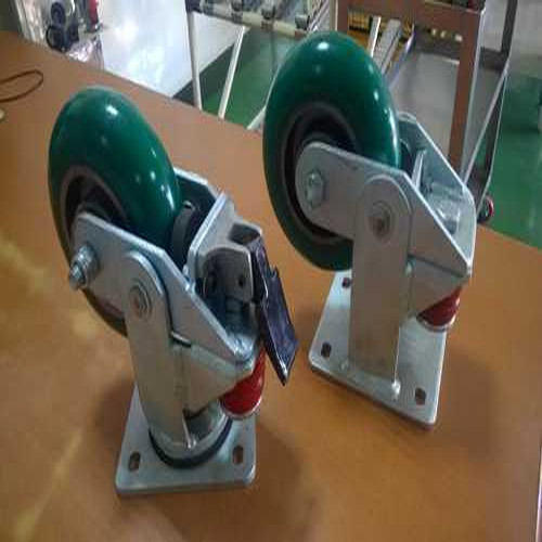 Green Polyurethane Shocker Type PU Caster Wheel