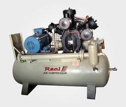 Real Single Stage Water Cooled Air Compressor, Maximum Flow Rate: 0-20 CFM