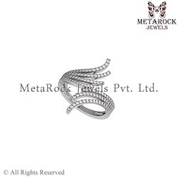 Pave Diamond Knuckle Ring