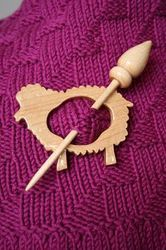 Laser Cut Shawl Pins