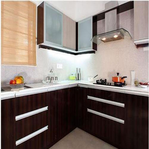 V Shaped Modular Kitchen Modular Kitchen Opulent Interiors