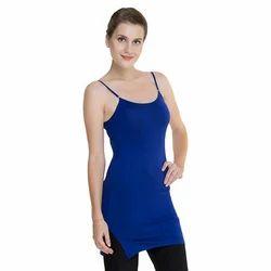 Ladies Long Royal Blue Camisole