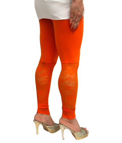 Stylish Outfit Orange Net Leggings
